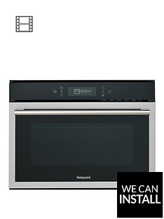 hotpoint-mp676ixh-60cm-built-in-combi-microwave-oven-with-grill-and-optional-installation-blackstainless-steel