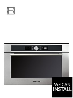 hotpoint-md454ixh-60cm-built-in-microwave-oven-with-grill-and-optional-installation-stainless-steel