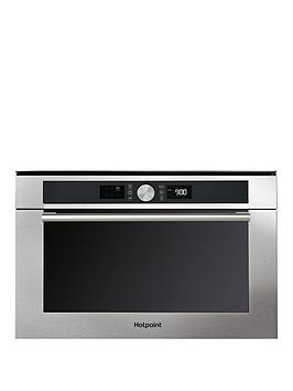 Image of Hotpoint Class 4 Md454Ixh 60Cm Built-In Microwave Oven With Grill And Optional Installation - Stainless Steel - Microwave Only