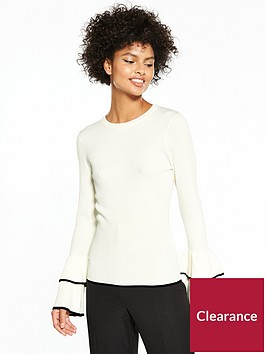v-by-very-tiered-fluted-cuff-rib-jumper