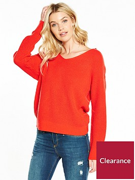 v-by-very-twist-back-rib-jumper