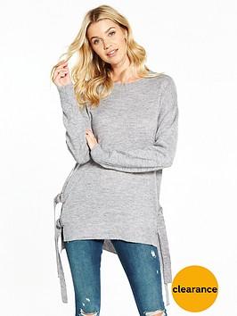 v-by-very-side-split-d-ring-fastening-tunic-jumper