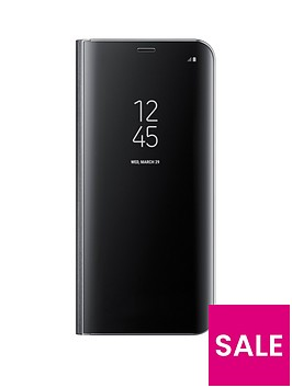 samsung-galaxy-s8-clear-view-stand-cover-case-with-fingerprint-resistant-coating-black
