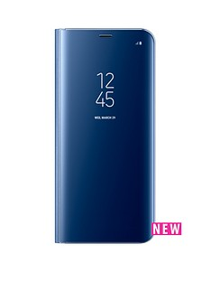 samsung-galaxy-s8-clear-view-stand-cover-case-with-fingerprint-resistant-coating-blue