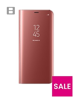 samsung-galaxy-s8-clear-view-stand-cover-case-with-fingerprint-resistant-coating-pink