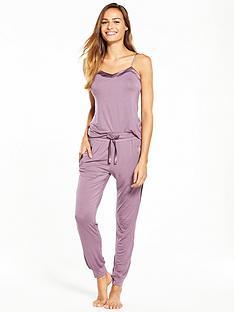 v-by-very-satin-trim-cami-pyjama-set
