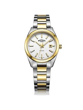 rotary-havana-white-date-dial-two-tone-bracelet-ladies-watch