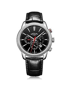 rotary-monaco-black-chronograph-dial-black-leather-strap-mens-watch