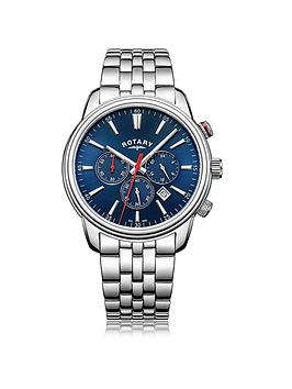rotary-monaco-blue-chronograph-dial-silver-tone-bracelet-mens-watch