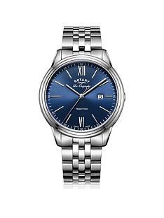 rotary-tradition-blue-date-dial-stainless-steel-silver-tone-bracelet-mens-watch