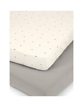 mamas-papas-nestling-2-fitted-cot-bed-sheets