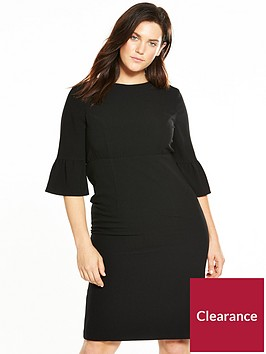 v-by-very-curve-fluted-sleeve-pencil-dress