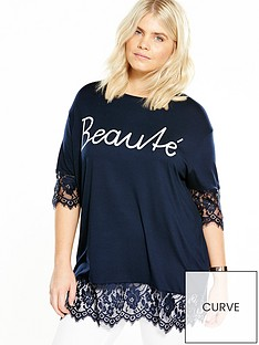 v-by-very-curve-slogan-lace-trim-t-shirt-navy