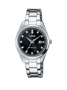 lorus-black-dial-stainless-steel-bracelet-ladies-watch