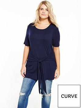v-by-very-curve-long-tie-waist-t-shirt-navy