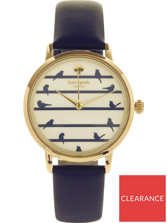 928d7235fe kate spade new york Metro Birds On A Wire 34mm Leather Watch - Navy ...