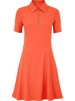 kenzo-zip-through-dress-orange