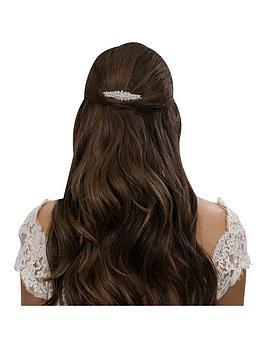 Jon Richard Alan Hannah Devoted Elvine Cubic Zirconia Clustered Navette Hair Comb