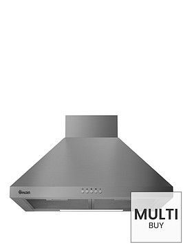 swan-sxb7080ss-60cm-pyramid-chimney-hood-with-carbon-filters-included-stainless-steel