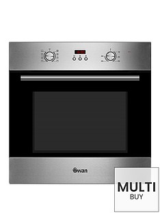 swan-sxb70110ss-60cm-built-in-single-electric-fan-oven-stainless-steel