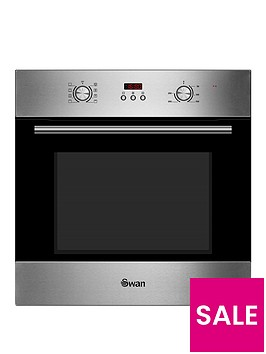 swan-sxb70110ss-60cm-built-in-single-electric-fan-oven-stainless-steelnbsp