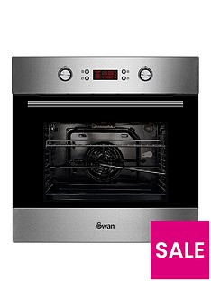 swan-sxb7070ss-60cm-built-in-single-electric-pyrolytic-oven-stainless-steel