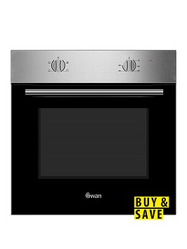 swan-sxb7060ss-60cm-built-in-single-electric-oven-stainless-steelnbsp