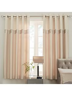 ideal-home-vienna-velvet-panel-geo-66x90-eyelet-curtains