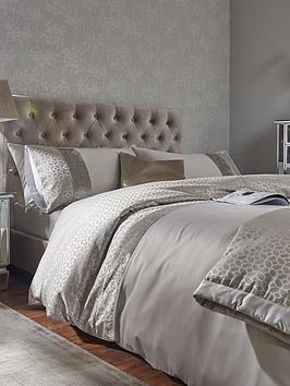 ideal-home-vienna-velvet-panel-geo-duvet-cover-set