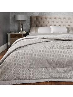 ideal-home-vienna-velvet-panel-geo-bedspread-throw