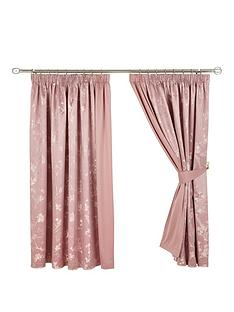 sakura-floral-lined-pencil-pleat-curtains