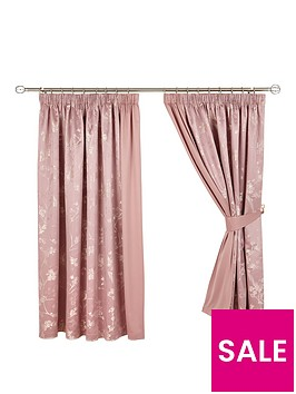 sakura-floral-lined-pencil-pleat-curtains
