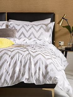 ideal-home-chevron-metallic-duvet-cover-set-sb