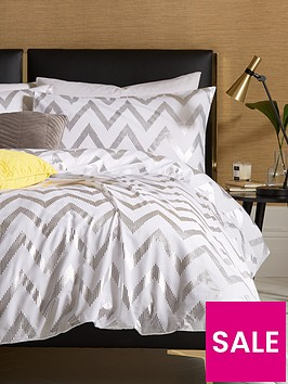 ideal-home-chevron-metallic-duvet-cover-set