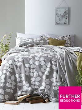 ideal-home-modern-leaves-cotton-rich-180-thread-count-duvet-cover-set