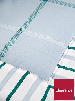 ideal-home-croft-check-bedspread-throw