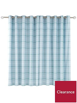 ideal-home-croft-check-lined-eyelet-curtains