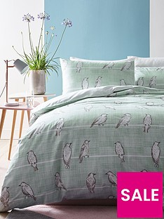 ideal-home-bird-print-duvet-cover-set