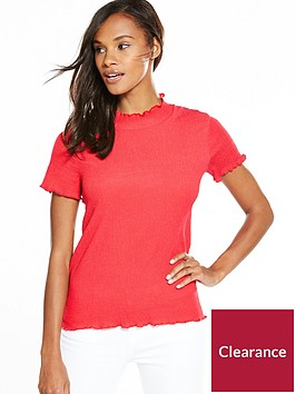 v-by-very-contrast-stitch-textured-top-coral