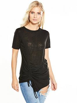 v-by-very-ruched-drawcord-t-shirt-black