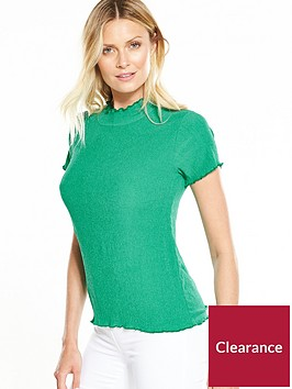 v-by-very-contrast-stitch-textured-top-apple-green