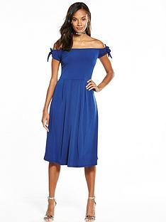 v-by-very-tie-sleeve-midi-dress