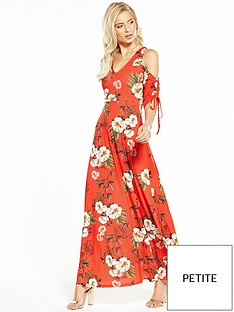 v-by-very-petite-drawcord-sleeve-maxi-dress