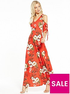 v-by-very-tall-drawcord-sleeve-maxi-dress