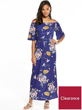 v-by-very-tall-jersey-bandeau-fluted-sleeve-maxi-dress