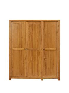Luxe Collection Suffolk Solid Wood 3 Door Wardrobe