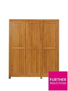 Luxe Collection Suffolk Solid Wood 3 Door Wardrobe
