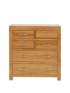 Luxe Collection Suffolk Ready Assembled 100% Solid Wood 4 + 2 Drawer Chest