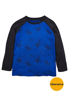 mini-v-by-very-boys-raglan-skeleton-skater-tee