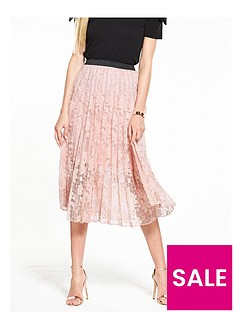 v-by-very-lace-pleated-skirt-nude